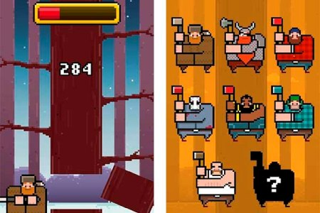 Timberman, an addictive game that follows the trail of Flappy Bird