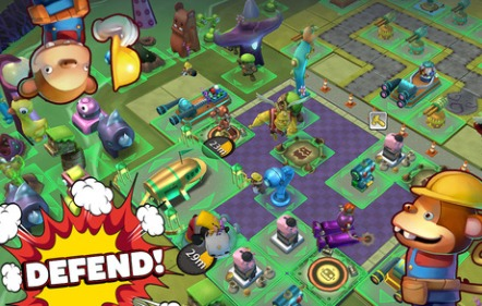 Defend attack collect Toy Rush for iPhone, iPad